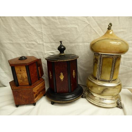 35 - Three automaton musical cigar holders