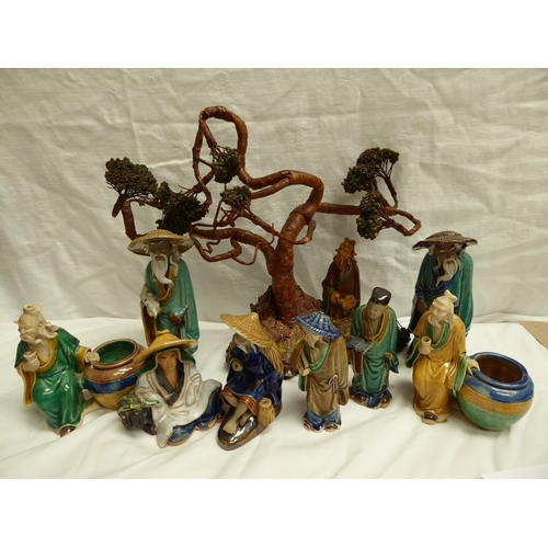 43 - Collection of Chinese pottery figures