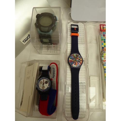 57 - A collection of Swatch watches and accessories