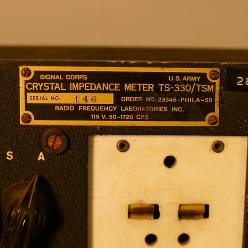 1 vintage radio receiver type TS-330/TSM crystal impedance