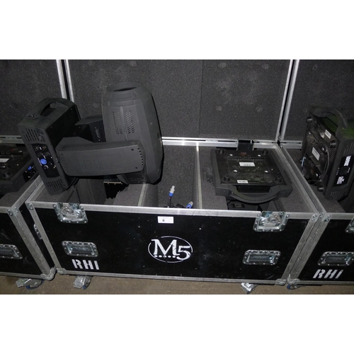 8 - 2 moving head lights by Chauvet Professional type Rogue RH-1 Hybrid, 240v,  YOM 2015,  contained in ...