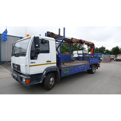 1 - MAN 8.163  Reg: V445 DHO.  YoM: 01/11/1999. Dropside lorry fitted with Palfinger PK 7000 crane c/w a...