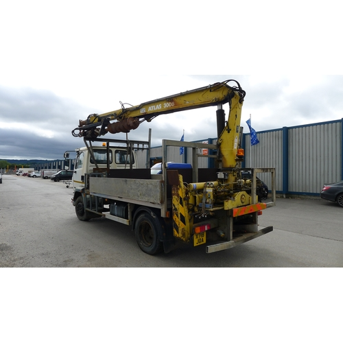 2 - DAF FA 55.160 Ti Reg: X718 JOA  YoM: 26/02/2001 Dropside lorry fitted with Atlas Crane 3008. Last cr...