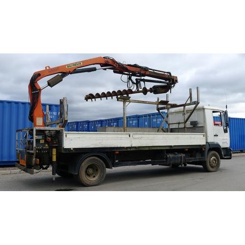 3 - MAN L 2000  Reg: WX03 UMW  YoM 24/05/2003, Dropside Lorry fitted with Palfinger PK6500 crane c/w Aug...