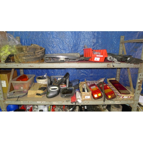 12 - A quantity of various commercial vehicle related items for Scania, Volvo etc including lights, mirro...