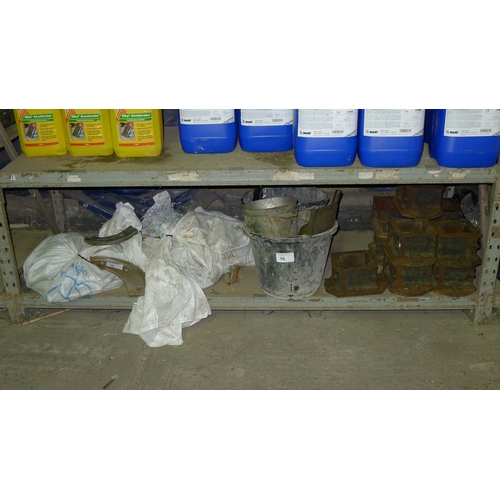 16 - A quantity of various items including wear plates, concrete test cube formers etc. Contents of one s...