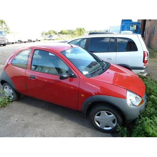 2588 - Ford KA, now. Reg X841 EEU 3 dr hatch. petrol 1.3ltr. manual, 1st reg. 28/09/2000, Odometer 84812'  ...