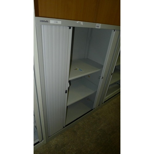 1045 - 1 medium height grey metal shutter front cabinet by Bisley...