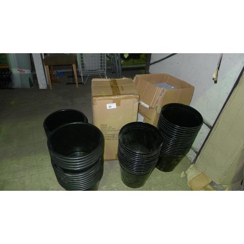 60 - A quantity of plastic & metal bins. Contents of one shelf...