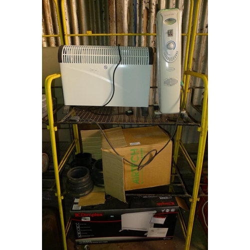 2007 - 3 various heaters and 1 Radon fan. Contents of one bay / 3 shelves...