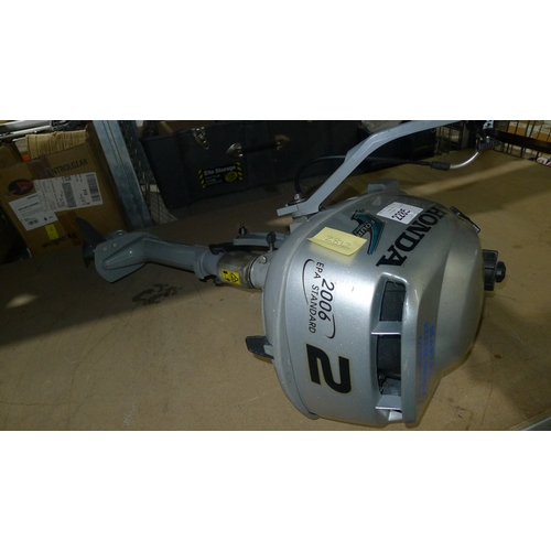 2285 - 1 Honda 2hp 4 stroke Outboard engine. 1.5kw, manufactured 2002,...