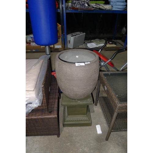 24 - 1 planter with stand RRP £59...