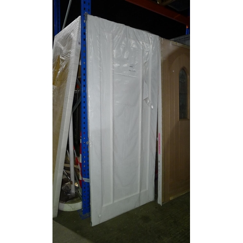 2002 - 1 white internal door by Jeld Wen approx 1981mm x 838mm...