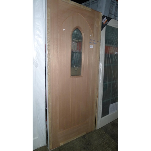 2003 - 1 Westminster external hardwood door with single double glazed unit fitted by LPD approx 836mm x 198...