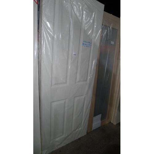 2005 - 2 white internal doors by Jeld Wen, each approx 686mm x 1982mm & 1 other door approx 762mm x 1982mm...