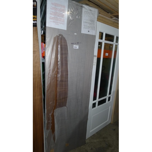 2009 - 1 dark wood door by LPD approx 1981mm x 610mm...