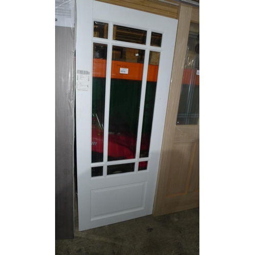 2010 - 1 white door with 9 panes of glass fitted approx 1860mm x 762mm...