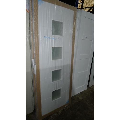 2014 - 4 white primed Vancouver doors by LPD each with 4 panes of glass fitted, all approx 762mm x 1982mm...