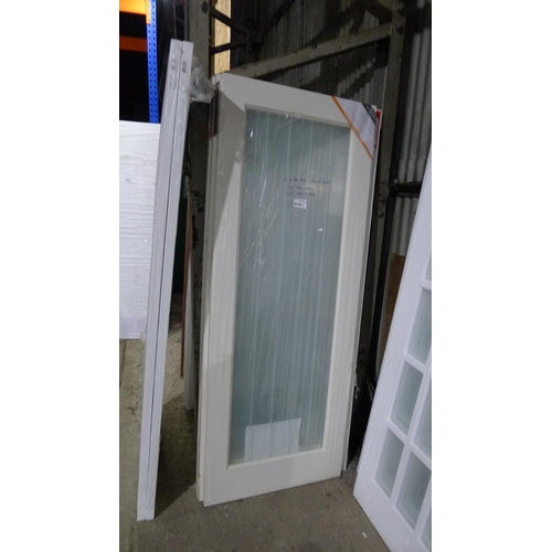 2025 - 3 cottage glazed doors by JB Kind comprising of 1 at approx 1982mm x 762mm & 2 at 1982mm x 838mm...