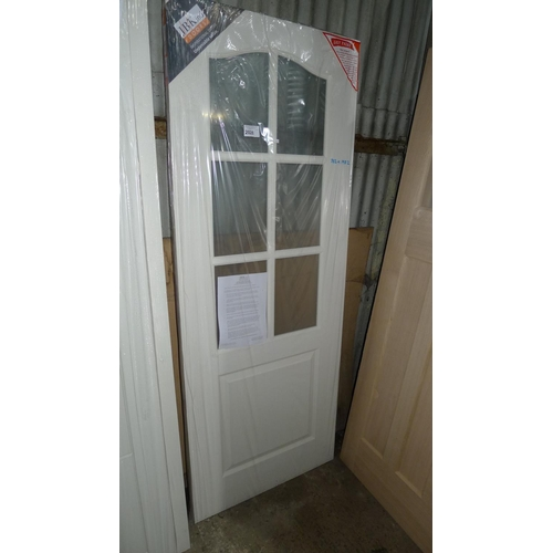 2028 - 1 door by LPD with 6 glass panes fitted approx 762mm x 1982mm...
