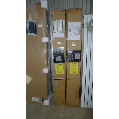 2038 - 1 Reina Colona 1800mm x 200mm vertical radiator...