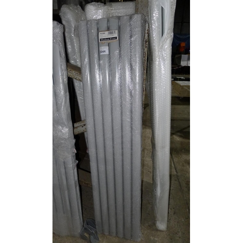 2044 - 1 Revive high gloss silver double panel radiator 1500mm by Hudson Reed...
