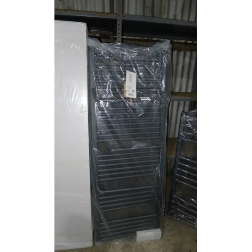 2050 - 1 Jazz Anthracite heated towel rail with hangers approx 1500mm x 550mm...