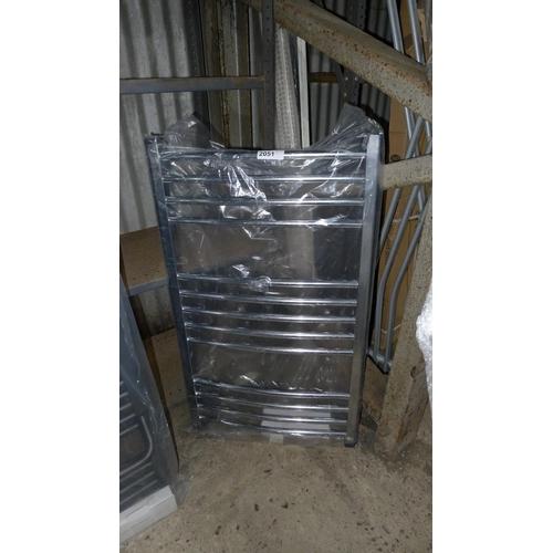 2051 - 1 chrome heated towel rail...