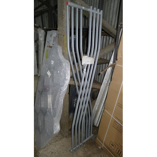 2053 - 1 cross type designer radiator by ETS approx 1800mm x 600mm...