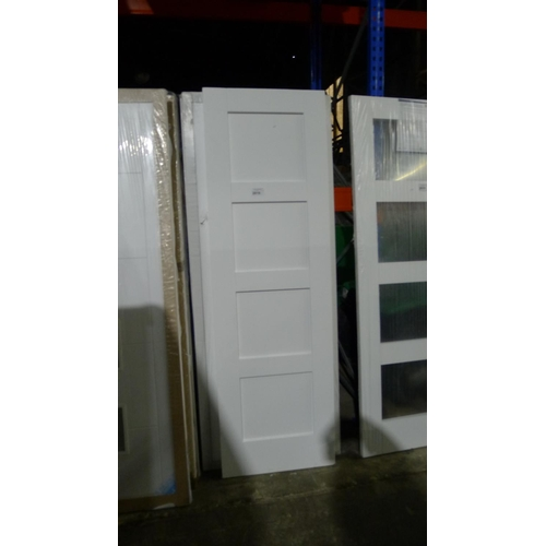 2016 - A pair of white shaker style doors each approx 1981mm x 610mm & a pair of white shaker style doors e...