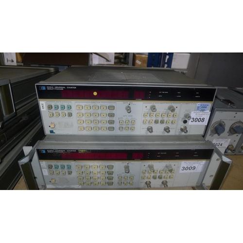 3008 - 1 Hewlett Packard 5335A universal counter with input C option - 1300MHz...
