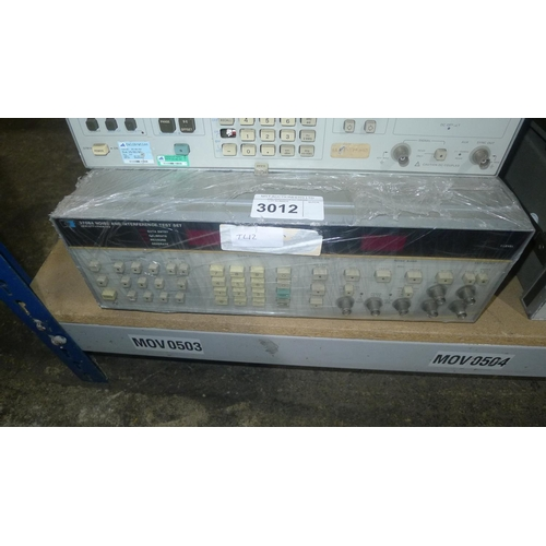 3012 - 1 Hewlett Packard 3708A noise and interference test set...