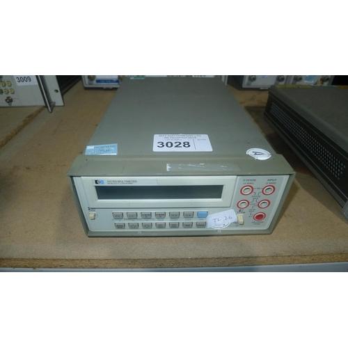 3028 - 1 Hewlett Packard 3478A digital multimeter (DMM)...