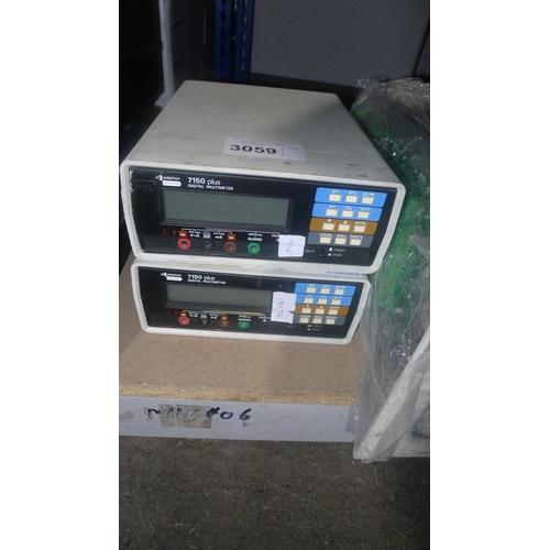 3059 - 2 Solartron 7150 Plus 6 1/2 digit digital multimeters...