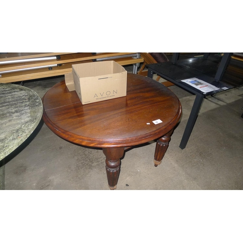 18 - 1 dark wood circular extending table...