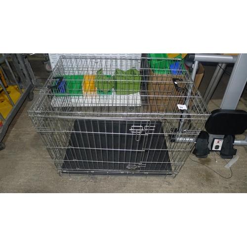 24 - 1 metal mesh folding pet cage...