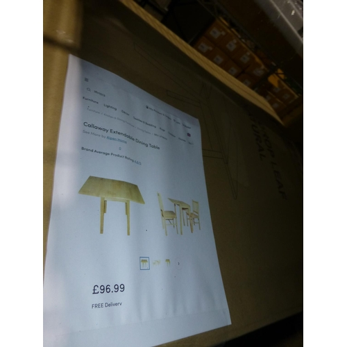38 - 1 Callaway extendable dining table RRP £96 and 1 Lowestoft side table RRP £36...