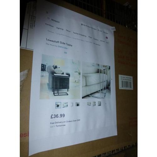 50 - 1 Nelly 42cm x 83cm bathroom shelf & 1 Lowestoft side table RRP £36...