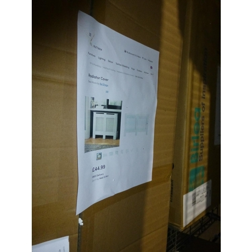 56 - 1 Pavos V2 four drawer chest RRP £119 & 1 radiator cover RRP £44...
