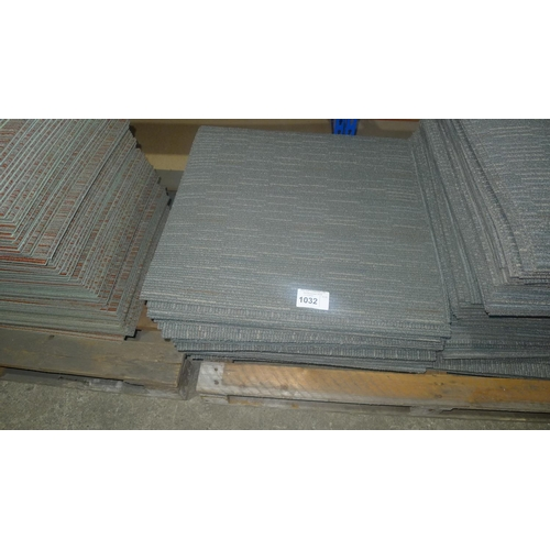 1032 - A quantity of approx 50 good quality grey patterned carpet tiles by Shaw each at 610mm x 610mm...