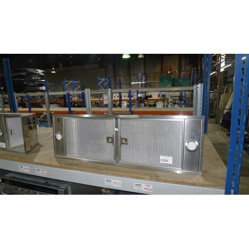 2352 - 1 integrated cooker hood by IE approx 90cm wide...