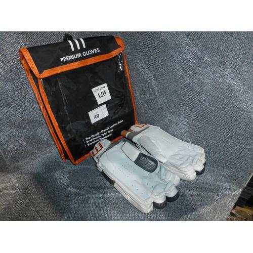 40 - A pair of Macer Premium batting gloves size Mens L/H...