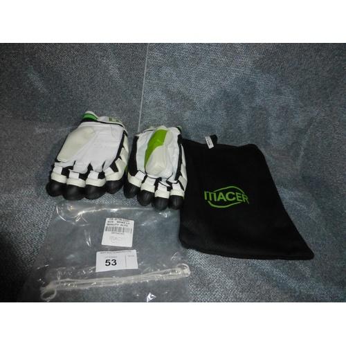 53 - A pair of Macer Elite batting gloves size Mens L/H...
