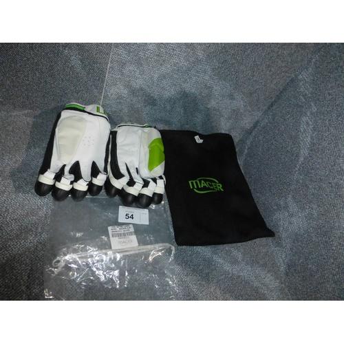54 - A pair of Macer Elite batting gloves size Mens L/H...