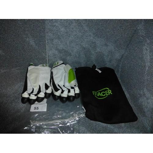 55 - A pair of Macer Elite batting gloves size Mens L/H...