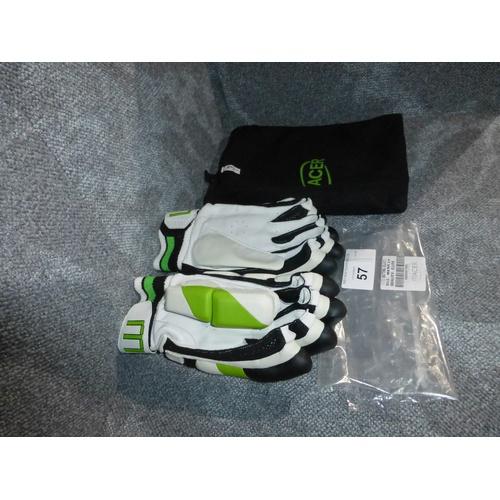 57 - A pair of Macer Elite batting gloves size Mens L/H...