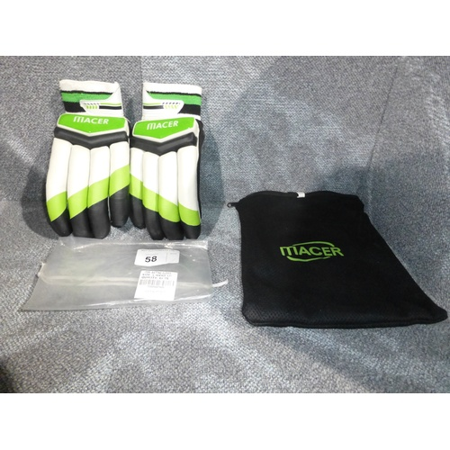 58 - A pair of Macer Elite batting gloves size Mens L/H...