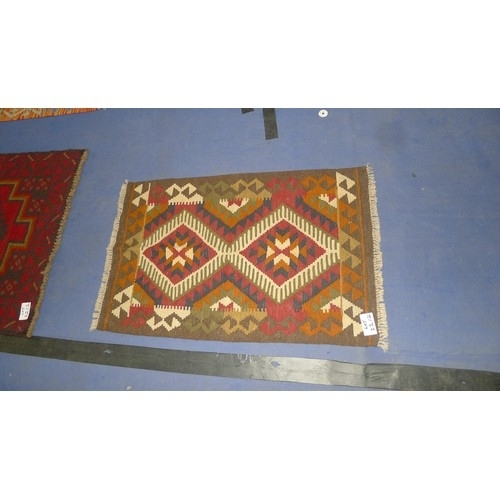 2214 - Maimana Kilim rug 93cm x 60cm