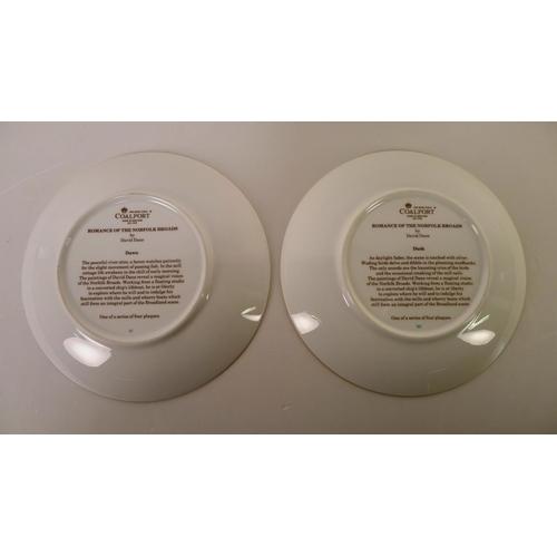 540 - A set of four Coalport pictorial plates