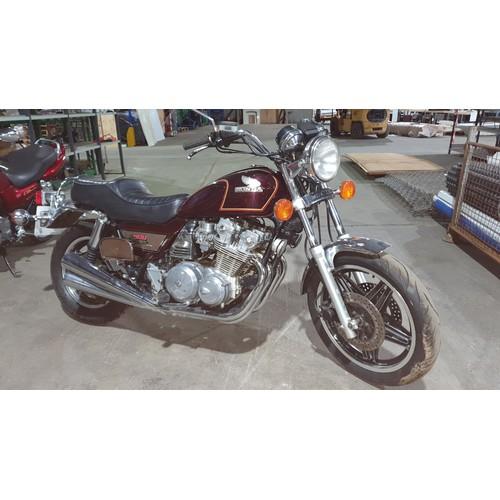 523 - Honda CB900 Custom Motor Cycle, Burgundy, Sports Cruiser, Reg AGN 570W. Imported 1st reg in UK 03/07...